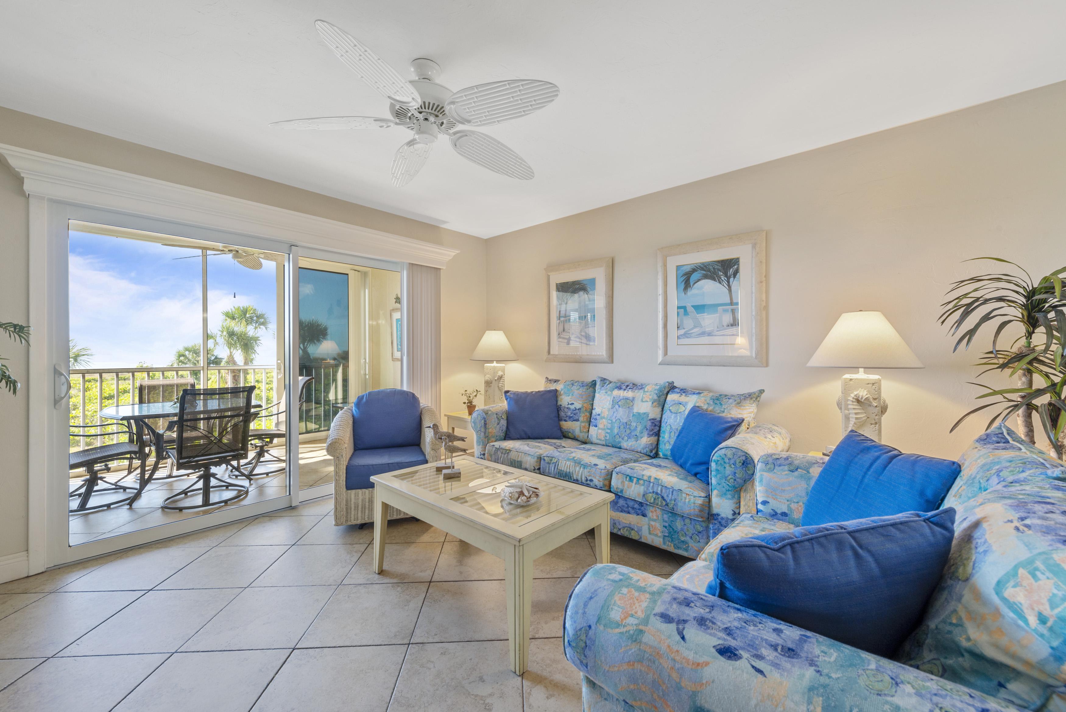 Sanibel Island Rental Condo Family Room
